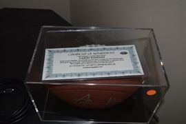 Autographed Football of Aaron Rodgers w/Certificate