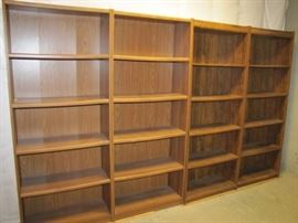 4 Large Bookcases