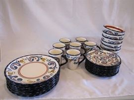 28 pc. Fitz  Floyd Dish Set
