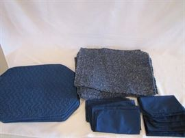 Blue Place Mats  Cloth Napkins