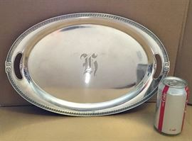 Fine Vintage Gorham Sterling Silver Etruscan 15'' Oval Tray           https://www.ctbids.com/#!/description/share/15266