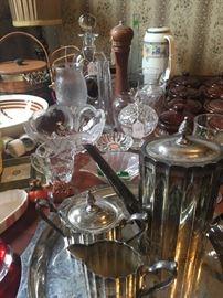 Silverplated tea set