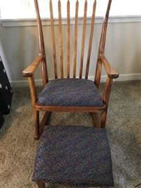 Custom Crafted Rocker and Footstool