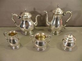 Fine Vintage International 5 piece Sterling Silver Prelude Tea/Coffee Set                  https://www.ctbids.com/#!/description/share/15123