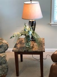 Marble top side tables