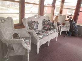 Nice wicker seating set.