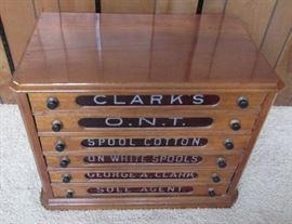 Vintage Clarks Spool Cabinet