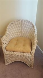 $60  Wicker chair with cushion