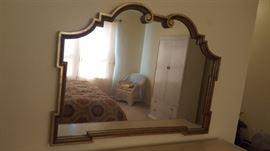 $50   Gold trim mirror
