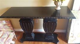 $90   Black console table