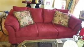 $200  Red sofa only 1 year old!