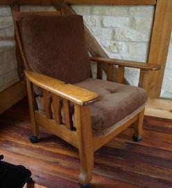 Solid oak Morris chair