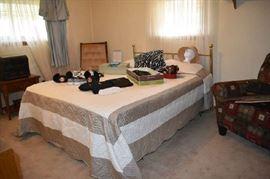 Bedspread, Headboard, Mattress, Frame, Purses, Hats, More