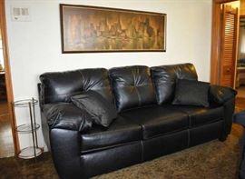 Kroehler Black Modern Sofa