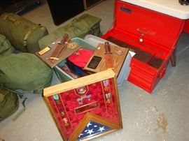 MILITARY GEAR /  SNAP ON BOXES