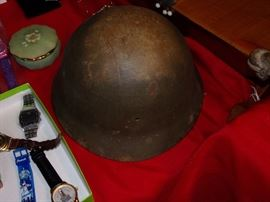 Japanese Helmet, mess inside, WW2