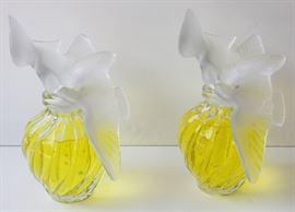 Post-1948 Lalique France French Art Glass Store Display Oversize Display Bottles from a Collection of Period Pre-1948 R. Lalique Sold as Multiple Lots from a Private Home.