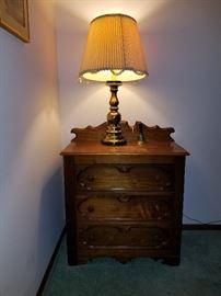 Vintage dresser and lamp