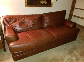 Bassett leather couch