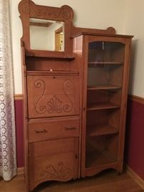 Antique oak secretary $700