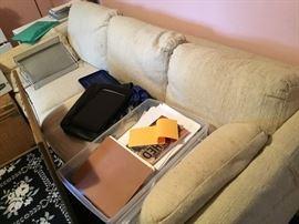 Cream sofa $70