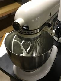 Kitchen Aid 4  1/2 quart mixer with 3 attachments $75