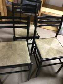 3 cane seat chairs $35 each