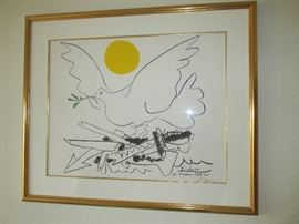 """Dove of Peace"" signed print by Pablo Picasso"