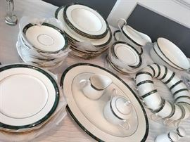 Large set of Lenox china - never used. Many still with tags.
