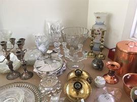 candlesticks, Bristol ware vase