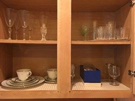 Lenox china, crystal pieces