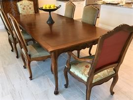 Baker Dining Room table and six chairs.