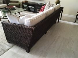 Side view of rope sofa.