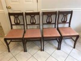4 harp back chairs