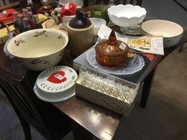 Kitchen & glass items