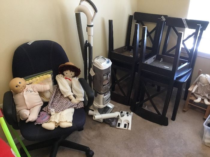 Extra set of 4 matching chairs, office chair, dolls