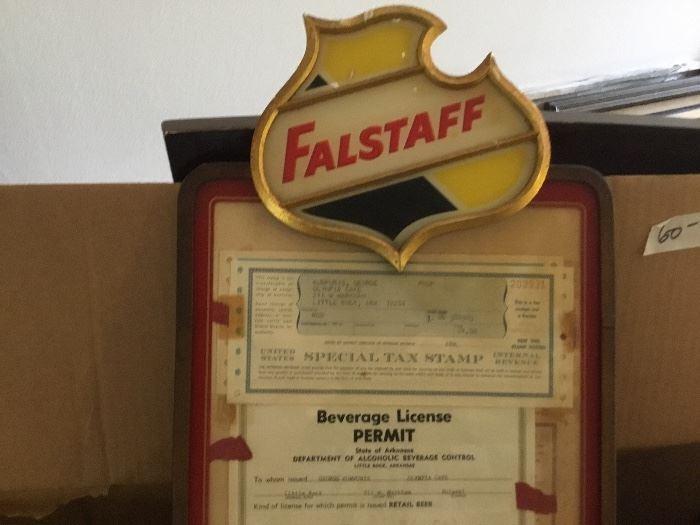 Falstaff sign close up - good condition