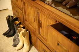 Matching dresser and women's shoes