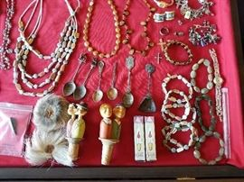 Sterling Silver Collector Spoons, Cookie Lee Jewelry and Other Costume Jewelry.