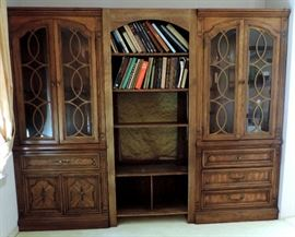 3 Piece Wall Unit with Glass Cabinets