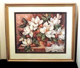 Magnolia Floral Framed Art