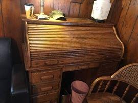 #9 Oak Roll-top Desk 48x24x48 $175.00