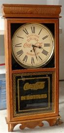COCA-COLA IN BOTTLES ADVERTISING CLOCK
