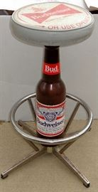 BUDWEISER BEER IN BOTTLES ADVERTISING BAR STOOL