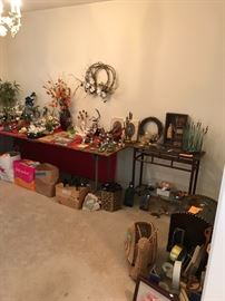 Many porcelain flower and bird collectibles!