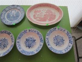 Wild Rose Bowl Plates