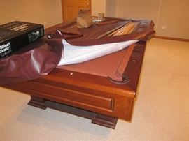 Olhausen 8' Monterey Mahogany Pool Table with accessories