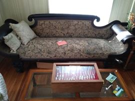 This couch was owned by Mr. Child, the first mayor of Rochester.