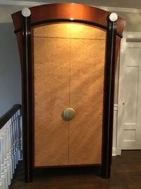 """DAKOTA JACKSON BY HOLLY HUNT. This amazing armoire has marble decorative accents. Extremely rare piece. 88"""" x 44"""" x 22"""" (Purchased for $18,000).  Selling for $5200"""