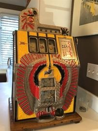 Antique slot machine perfect working 1910 recently serviced $3995.
